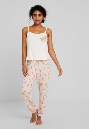 SET - Pyjamaser - pink/yellow