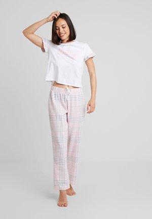SET - Pyžamo - pink/white
