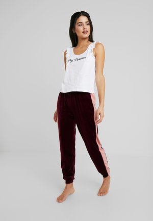 SET - Pijama - white/bordeaux