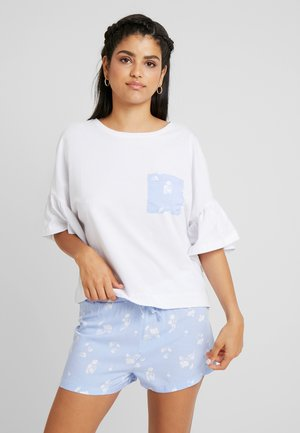 Set - Pijama - white/blue