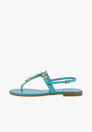 OLIMPIA - T-bar sandals - turquoise