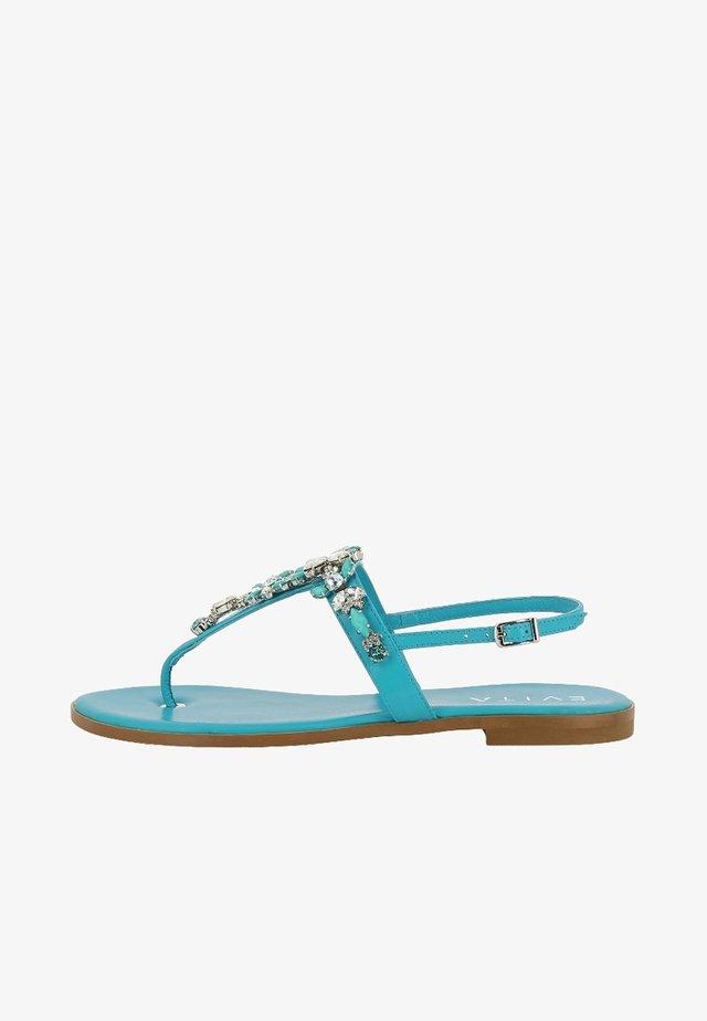 OLIMPIA - Sandaler m/ tåsplit - turquoise