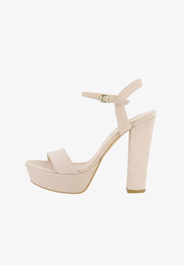 STEFANIA - Højhælede sandaletter / Højhælede sandaler - nude