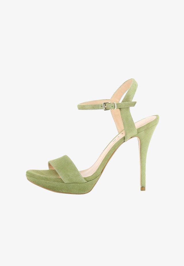 VALERIA - Højhælede sandaletter / Højhælede sandaler - olive