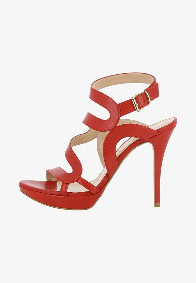 VALERIA - Sandali con tacco - dark red