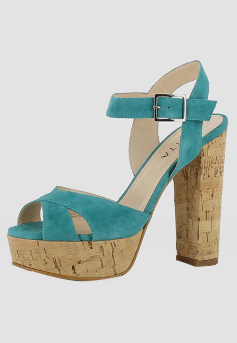 Evita High Heel Sandalette - petrol - Black Friday