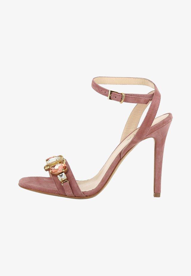 High heeled sandals - mauve