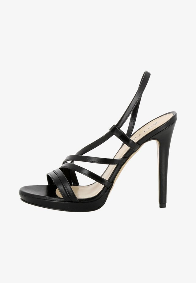 EVA - High heeled sandals - black