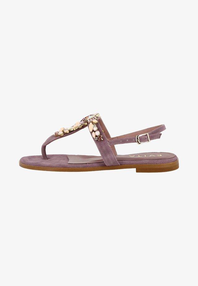 OLIMPIA - T-bar sandals - mauve
