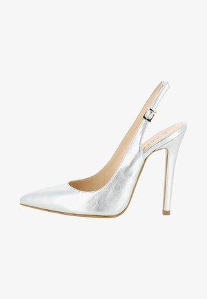 LISA - High heeled sandals - silver