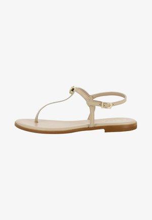OLIMPIA - T-bar sandals - beige