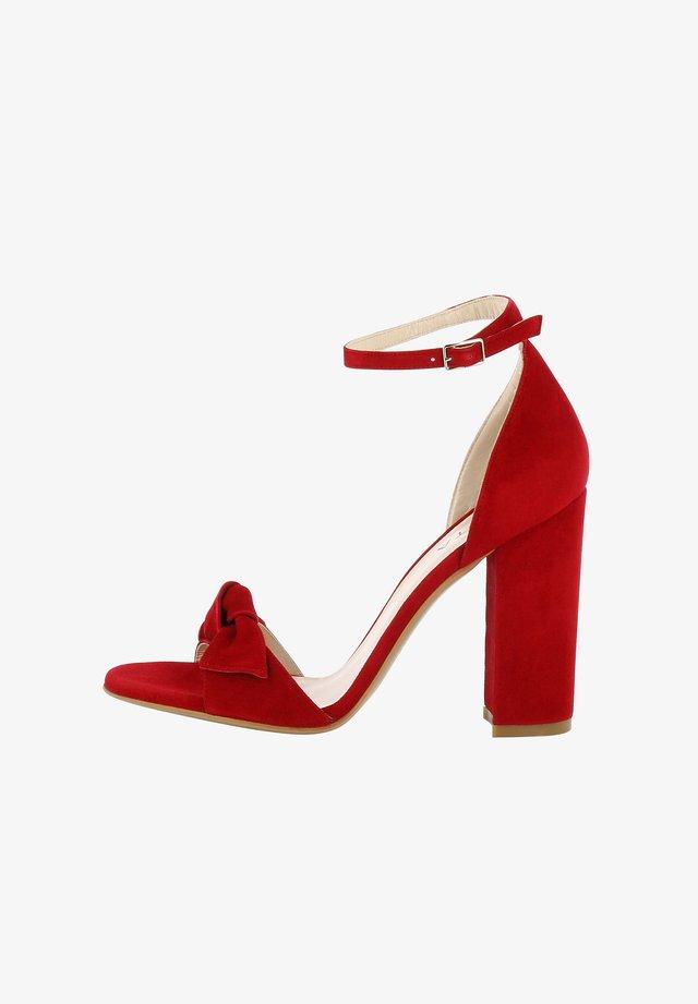EVA - High Heel Sandalette - red