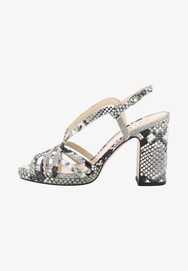LINDA - Højhælede sandaletter / Højhælede sandaler - grey