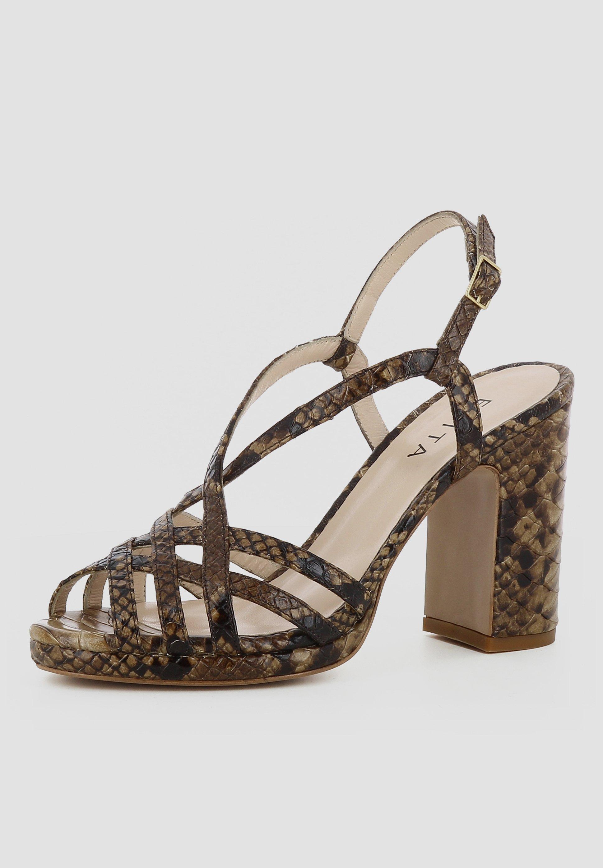Evita LINDA - Højhælede sandaletter / Højhælede sandaler - brown