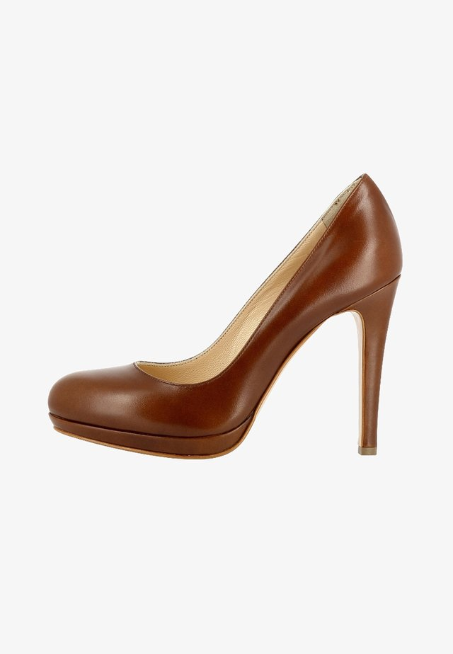 Klassiska pumps - cognac
