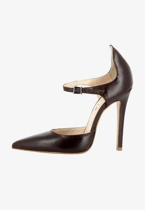Højhælede pumps - dark brown