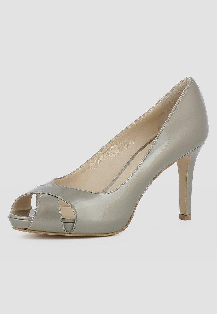 Evita DAMEN ELISA - Escarpins à bout ouvert - gold - Chaussures à talons femme Classique