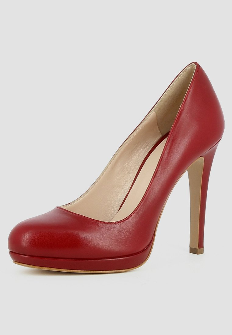 Evita CRISTINA - Escarpins à plateforme - dark red - Chaussures à talons femme Classique