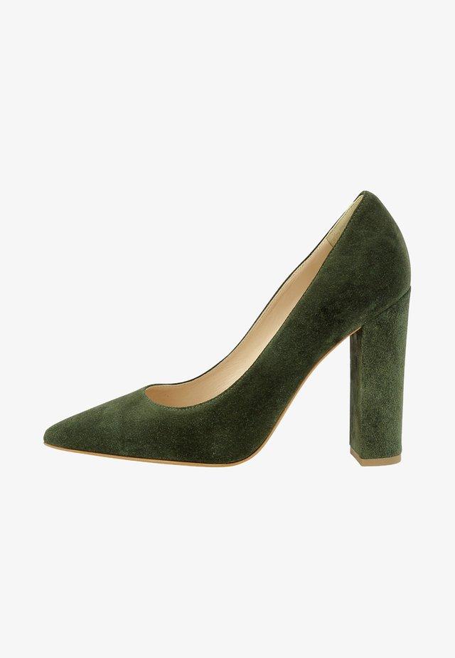 Højhælede pumps - green
