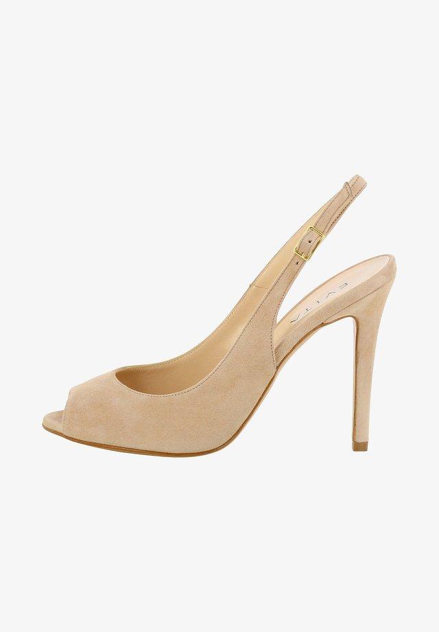 ALESSANDRA - Højhælede peep-toes - nude
