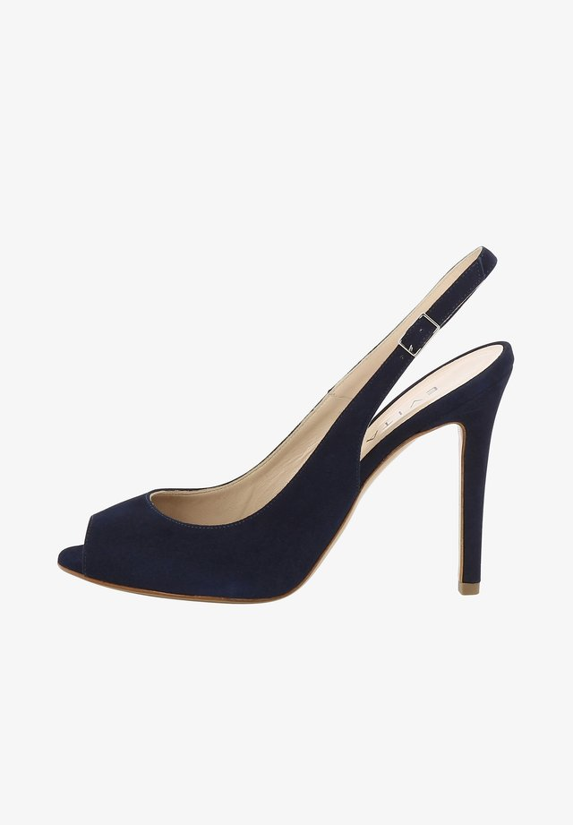 ALESSANDRA - Peeptoe heels - dark blue