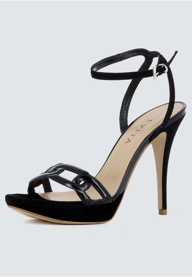 Evita Højhælede Sandaletter / Sandaler - Black