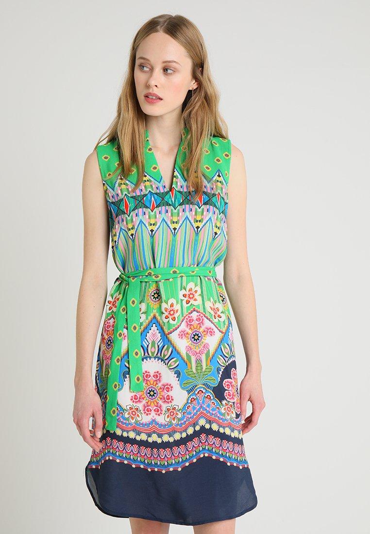 Emily van den Bergh - Day dress - green/pink