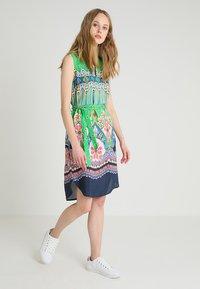 Emily van den Bergh - Day dress - green/pink - 1