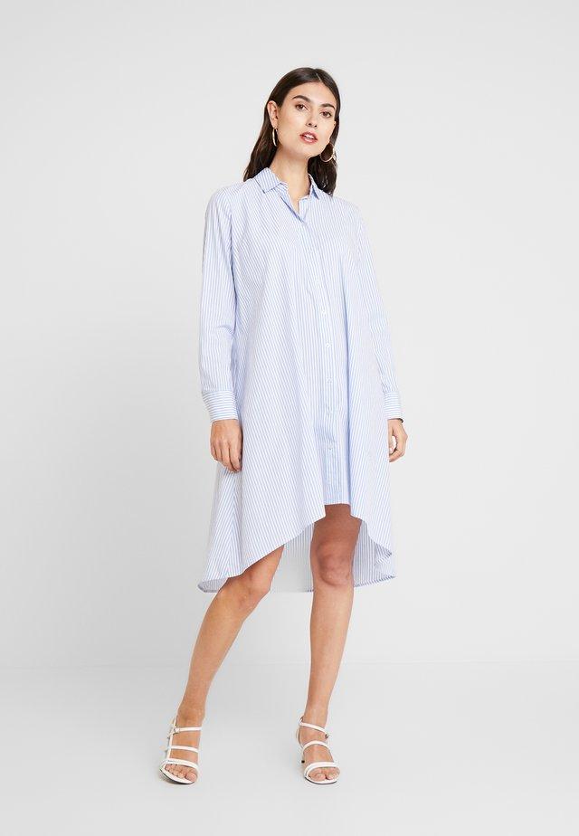 Skjortekjole - bleu white