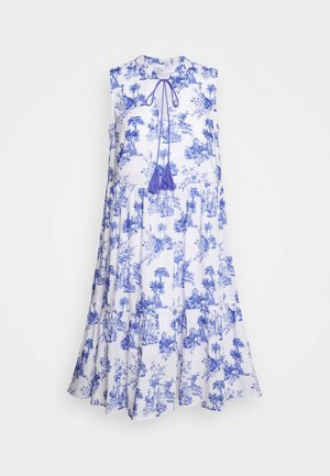 DRESS - Day dress - white/blue