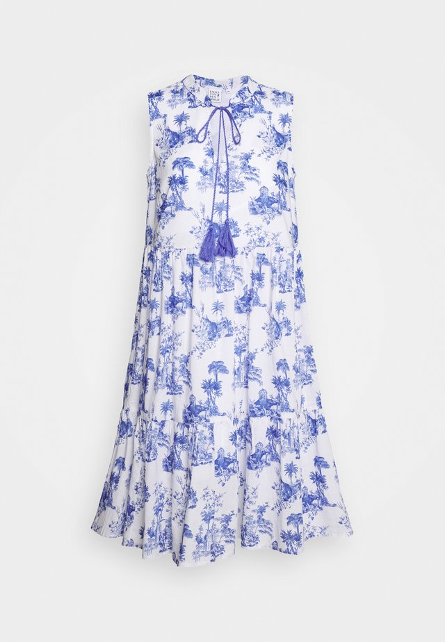 DRESS - Korte jurk - white/blue