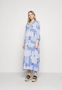 Emily van den Bergh - DRESS - Maxi dress - white/blue - 1