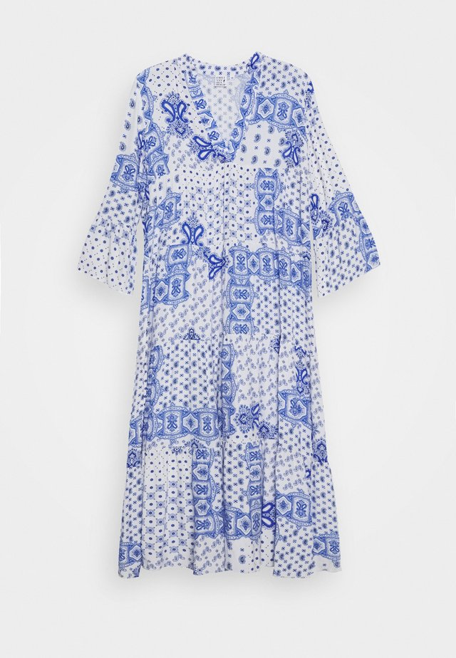 DRESS - Maxi-jurk - white/blue