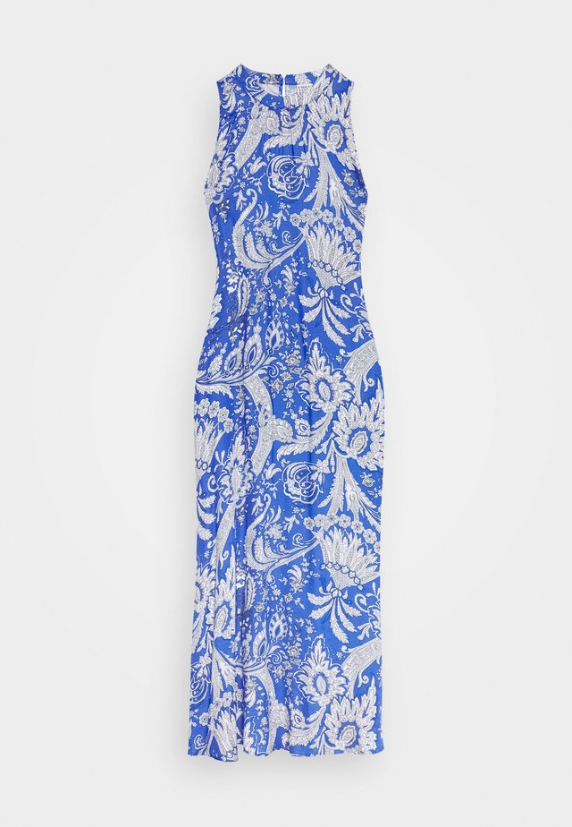 DRESS - Maxi-jurk - blue/white