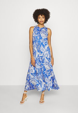 DRESS - Maxi dress - blue/white