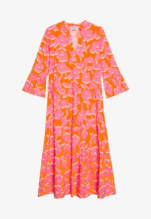 DRESS - Maxi dress - orange/pink