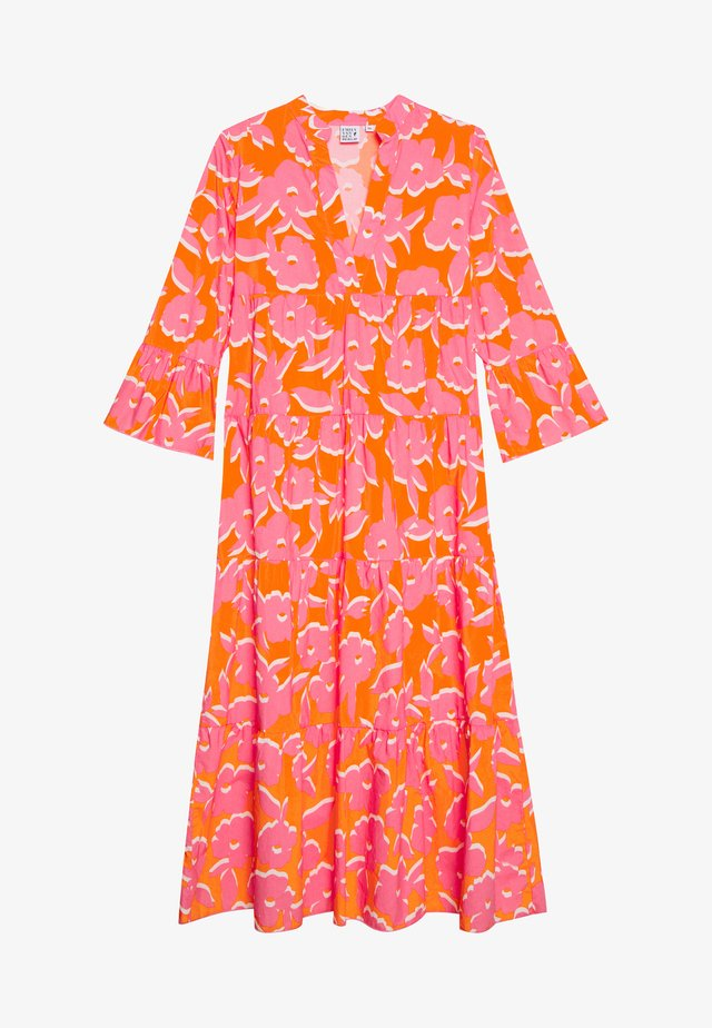 DRESS - Maxi-jurk - orange/pink