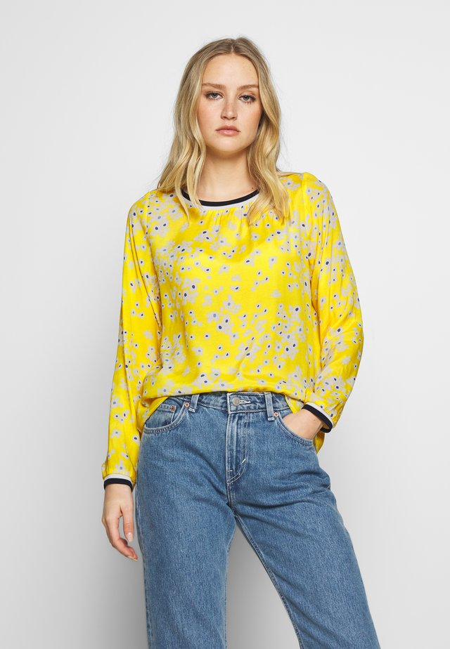 Blouse - bleu/yellow