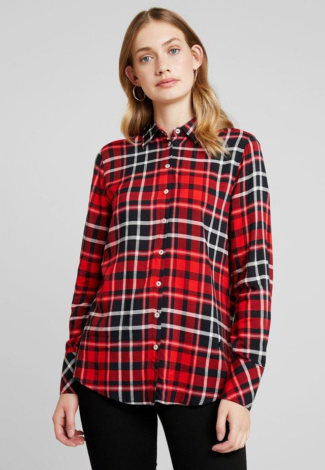 Overhemdblouse - red/black