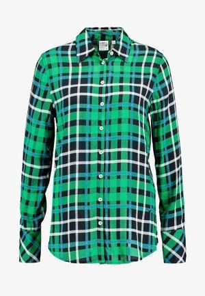 Button-down blouse - green/black