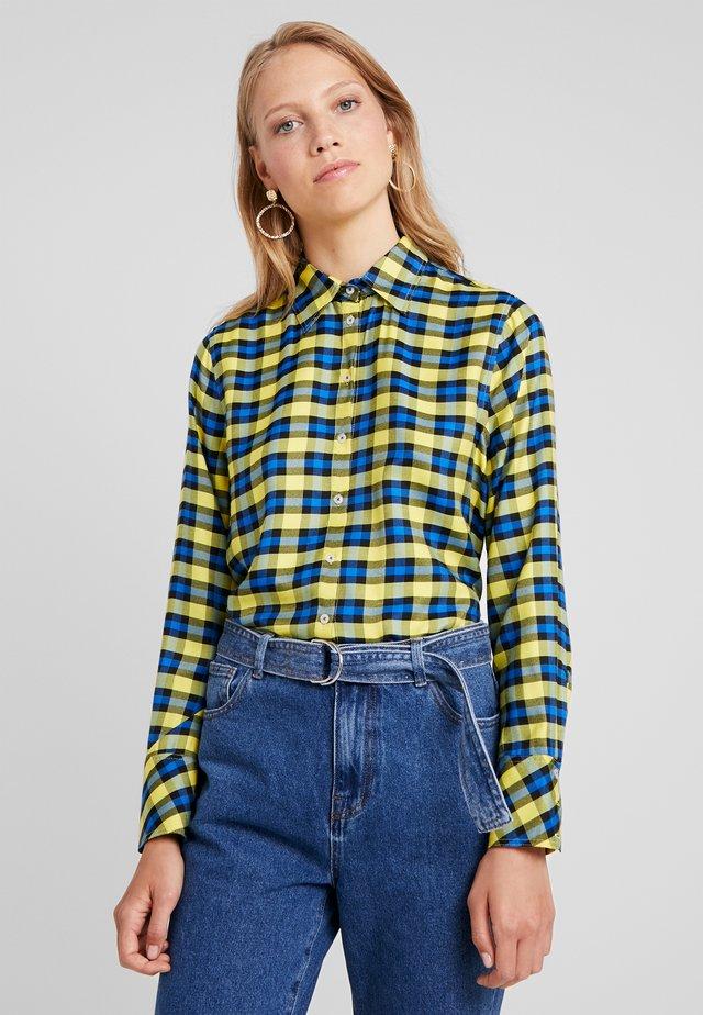 Overhemdblouse - yellow/blue
