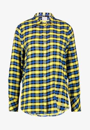 Button-down blouse - yellow/blue