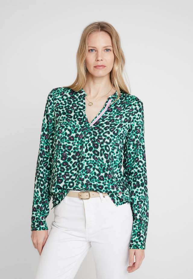 Blouse - green/pink