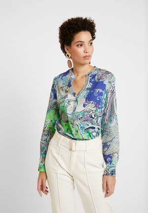 Blouse - green/blue