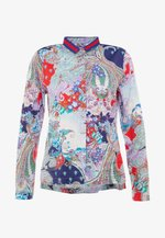 Blouse - red navy