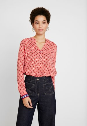 Blouse - red white