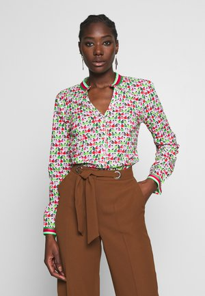 Blouse - red/green