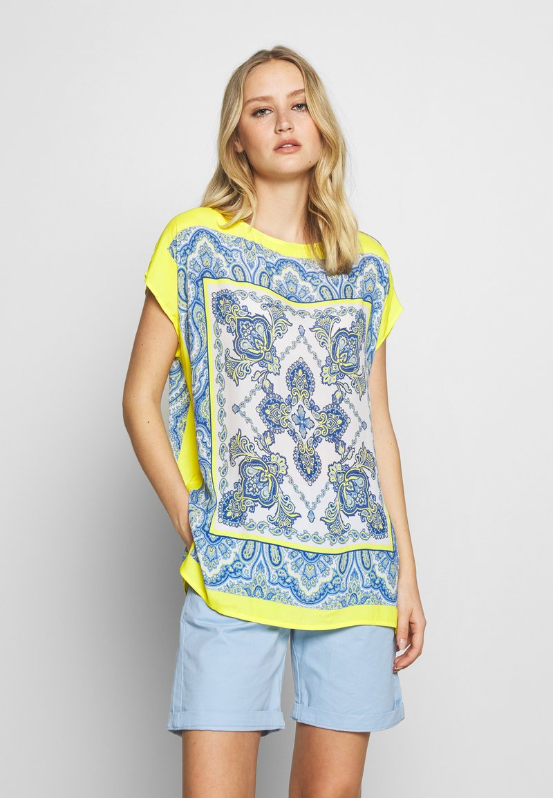 Emily van den Bergh - Blouse - yellow/blue