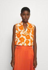 Emily van den Bergh - BLOUSE - Blůza - white/orange - 1