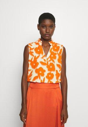 BLOUSE - Blouse - white/orange